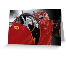 1939 Maserati Race Car 'Driver's Compartment Detail' Greeting Card