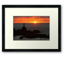 La Corbiere Lighthouse Sunset Framed Print