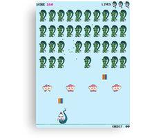 Zombie Unicorn Invaders Canvas Print
