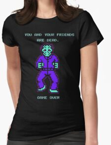 JASON FRIDAY THE 13TH 8-BIT NES Womens Fitted T-Shirt