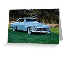 1953 Chrysler New Yorker Deluxe Sedan Greeting Card