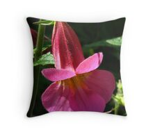 Penstemon Flower Throw Pillow