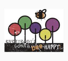 Everybody's Gonna Bee Happy One Piece - Short Sleeve