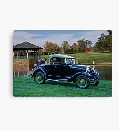 1931 Ford Model A 'Rumble Seat' Roadster 2 Canvas Print