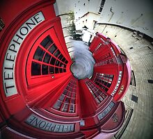 Telephone boxes in a spin by AndyHuntley