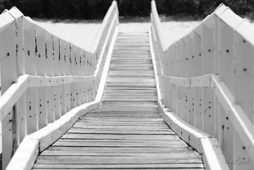 Bridge at Crescent Head Black & White by Backyard