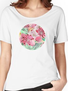 Blossoming - a hand drawn floral pattern Women's Relaxed Fit T-Shirt