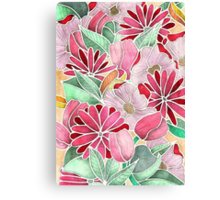 Blossoming - a hand drawn floral pattern Canvas Print