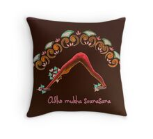 adho mukha svanasana Throw Pillow