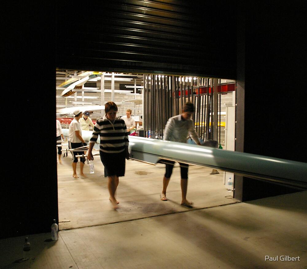 In the dark - Riverway Rowing Club by Paul Gilbert