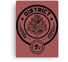 District 9 3/4 - Hunger Games/Harry Potter Canvas Print