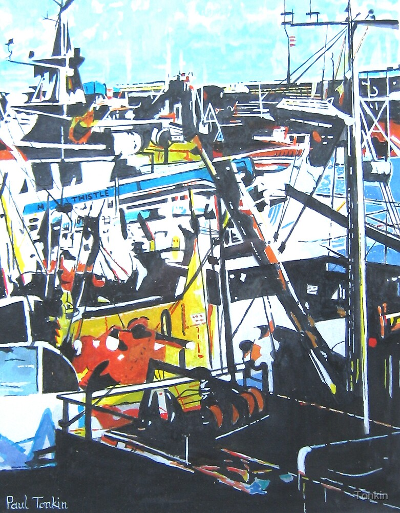 Newlyn Harbour, Cornwall by Tonkin