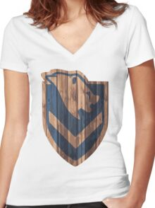 Windhelm Shield Women's Fitted V-Neck T-Shirt