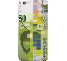 50 Swiss Francs Note Bill -back side iPhone Case/Skin