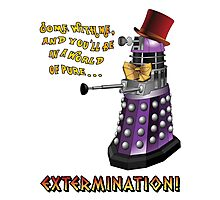Willy Wonka Dalek Photographic Print