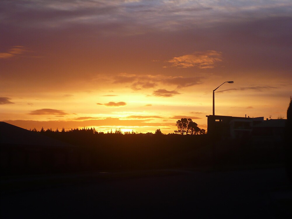 Sunset Down our Street by greeneyedgirl