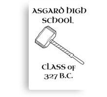 Asgard High School Canvas Print