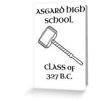 Asgard High School Greeting Card