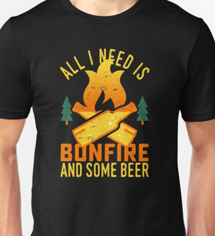 Bonfire And Beer Unisex T-Shirt