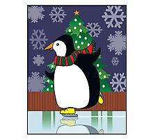 Penguin Skate Photographic Print