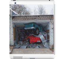 Graffiti on garage door. iPad Case/Skin
