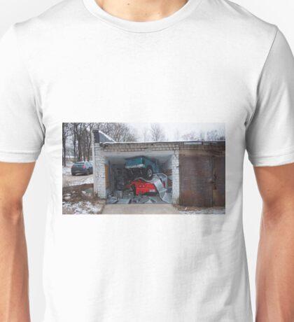 Graffiti on garage door. Unisex T-Shirt