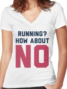 I Don't Run Women's Fitted V-Neck T-Shirt