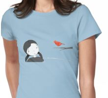 lil girl and red birdy as a tee Womens Fitted T-Shirt