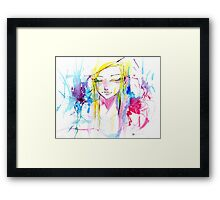 Colorful Watercolors Framed Print