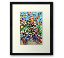Super Mario Bros. 3 - RUN!!! Framed Print