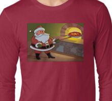 Christmas Pizza Long Sleeve T-Shirt