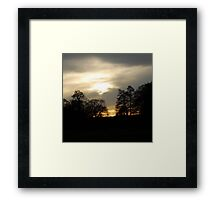 Dusk over the countryside Framed Print