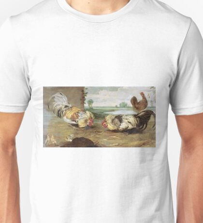 Frans Snyders - A Cock Fight Unisex T-Shirt