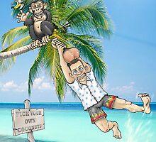 Beach monkey by Lyn Davies