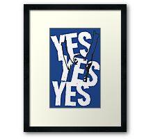 Daniel Bryan YES YES YES ! Framed Print
