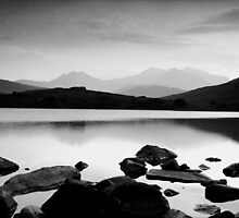 Snowdon Horseshoe at Dusk by Hywel Harris
