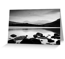 Snowdon Horseshoe at Dusk Greeting Card