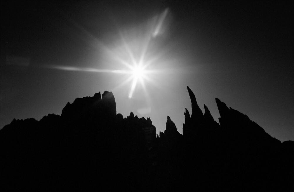 Rock Pinnacles, Glyder Fach by Hywel Harris