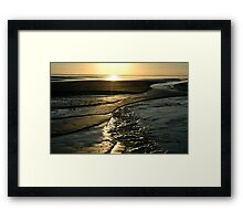 Sunset Coastline Framed Print