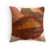 rose leaves in fall Throw Pillow