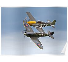 Spitfire & P-51 Mustang Poster