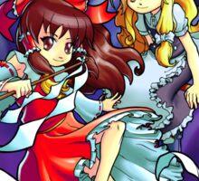 Touhou - Reimu and Marisa Sticker