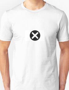 Cross in Circle , White T-Shirt