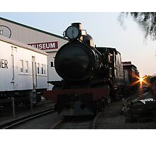 narrow gauge sunset Photographic Print