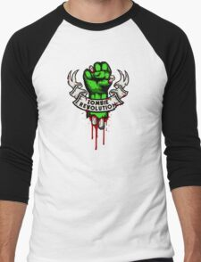 Zombie Revolution! Men's Baseball ¾ T-Shirt