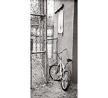 bycycle at ballpark Photographic Print