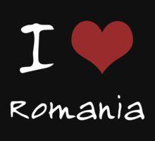 I love Heart Romania Kids Tee