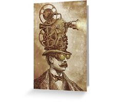 The Projectionist (sepia option) Greeting Card