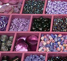 Purple knick knacks by bubblehex08