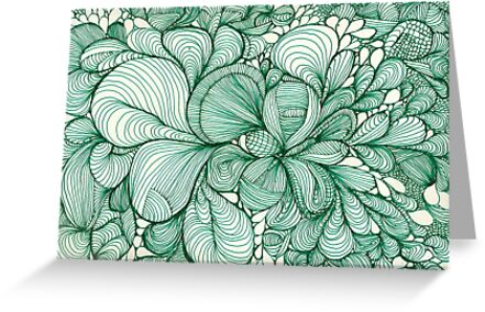 Green Lines and Shapes by kathleenmarie